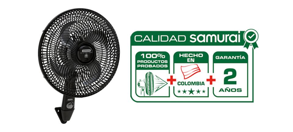 Calidad Samurai hecha con manos colombianas y 2 años de garantía.