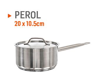 Perol para hacer cremas de 20x10,5cm.