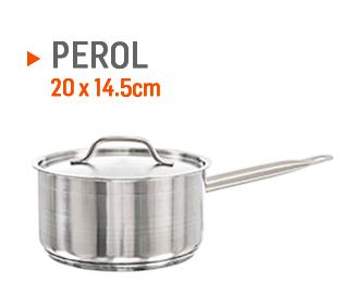 Perol para hacer cremas de 20x14,5cm.