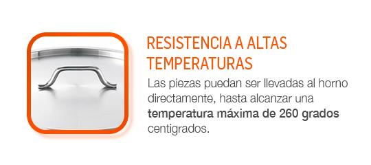 Alcanzar una temperatura máxima de 260 grado, para usar también en un horno.