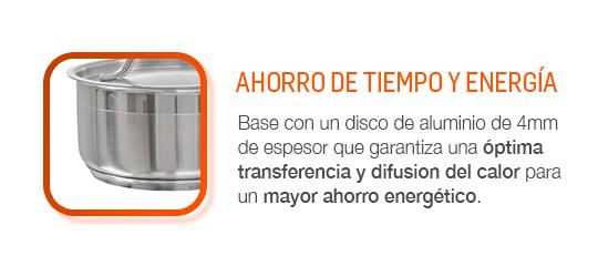 Óptima transferencia y difusión del calor para un mayor ahorro energético.