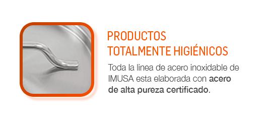 Ollas acero de alta pureza certificado.