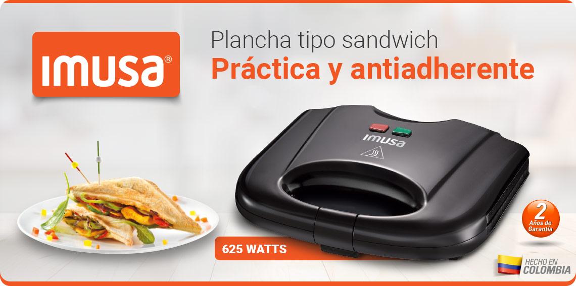 Plancha tipo sandwich práctica y antiadherente