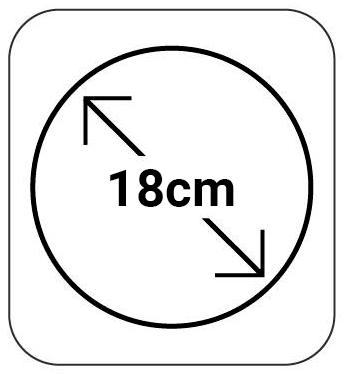 18cm de Diámetro