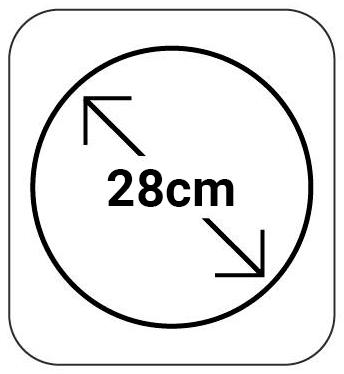 28cm de Diámetro