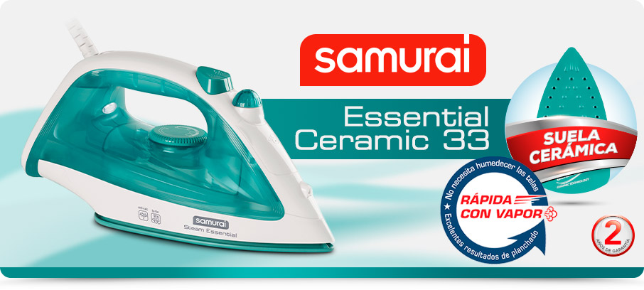 Plancha de ropa Samurai Essential Ceramic 33 azul
