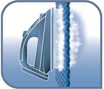 También se puede planchar prendas colgadas gracias a su vapor vertical